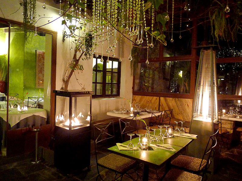 Restaurant La Brasa Ibiza met tuin
