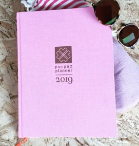 Purpuz planner pink roze agenda